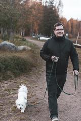 Dog & owner (tsipilai) Tags: dog owner man coton cotondetulear sigma nikon d7200