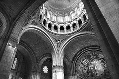 Parigi (gianclaudio.curia) Tags: parigi francia basilica sacrocuore interno cupola bianconero blackwhite nikon d7100 nikkor18140