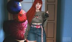 #204 - New girl. 🎀 (rhavena.rasmuson) Tags: monso amitomo gacha follow4follow follow4followback fav4fav japan cute girl post redhead red secondlife slavatar slfashion secondolife secondlifeavatar sl slavi fashion kustom9 event