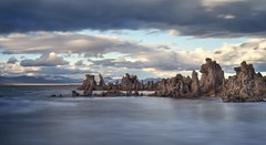 Timeless nature at Mono Lake (PeterThoeny) Tags: monolake southtufaarea leevining california tufa sky day cloud outdoor longexposure ndfilter neutraldensityfilter sony a7 a7ii a7mii alpha7mii ilce7m2 fullframe vintagelens dreamlens canon50mmf095 canon 1xp raw photomatix hdr qualityhdr qualityhdrphotography water rock landscape shore shoreline lake saltwater fav200