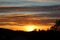 The sky is lava (Potographe) Tags: soleil sun coucherdesoleil sunset nuages clouds cielbleu bluesky ombre shadow paysage nature église church