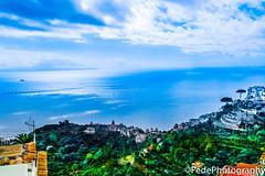 vista dal mare verso l'orizzonte che divide mare e cielo (federicoloforte) Tags: mare cielo orizzonte primo piano hd italia ravello