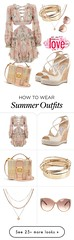 """Summer Outfits : """"Summer nights..."""" by beaszakacs on Polyvore featuring Zimmermann, Jimmy Choo, M... (Inspire Fashion_net) Tags:"""