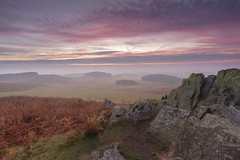Misty Dawn (John__Hull) Tags: landscape view mist clouds sky sunrise ferns bracken rocks bradgate park leicestershire charnwood england uk forest woods nikon d7200 sigma 1020mm newtown linford countryside autumn breath taking landscapes large scenery