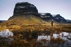 Kalfafell (Mathijs Buijs) Tags: mountain snow reflection landscape kalfafell vik vatnajökull jökulsarlon girl canon eos 5d europe mark mk iii
