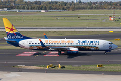Sun Express 737-800 (El GoiunA Shuttle livery) (Martyn Cartledge / www.aspphotography.net) Tags: 737800 aerodrome aeroplane air aircraft airline airliner airplane airport aspphotography aviation boeing cartledge civilairline civilairliner dasxp elgounashuttle flight fly flying jet martyn plane runway sunexpress transport wwwaspphotographynet uk asp photography