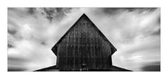 Tabakscheuer III (W.Utsch) Tags: sigma dp2 merril panorama stich bnw architecture barn sky