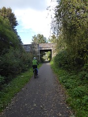 Back On Track (Brian Cairns) Tags: susrans roslin bonnyrigg lasswade cycling rosslyn newcyclepath danderhall dalkeith brianbcairns irreverence levity serendipity