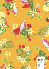 Sum-Pomi-C02 (natexfrance) Tags: sum été tropical fruits fruit tiaré pomi fraise cerise kiwi citron pastèque raisin feuille fruitdudragon