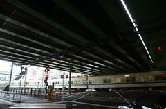 Odakyu 8000 Series Train at Railroad Crossing under Ring Road No.6 Overpass 3 (ykanazawa1999) Tags: 8000series train railroad crossing yoyogihachiman shibuya tokyo japan