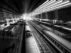 Estación de trenes (Blas Tovar) Tags: wwwblastovarcom beijing arquitectura bn china tren archiquecture blackandwhite blancoynegro bnwcaptures bw bwperfect monochrome pekin train wb architecture backandwhite blanconegro bnw whiteblack pekín beijingshi cn
