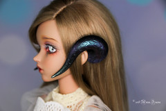 Snake horns MSD (AnnaZu) Tags: snake horns msd minifee alicia fairyland fairyline doll bjd abjd balljointed polymer clay magnetic commission