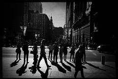Passing through (Albion Harrison-Naish) Tags: martinplace sydney newsouthwales nsw australia streetphotography sydneystreetphotography albionharrisonnaish iphone iphoneography mobilephotography iphonese hipstamatic blackeyssupergrainfilm lowylens jollyrainbow2xflash unedited straightoutofcamera sooc