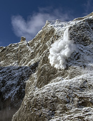 Norway's Trollveggen (Alex Tudorica) Tags: norway trollveggen station mountain canon norge norse vertical rock face europe climbing avalanche snow morning sunrise clear skies