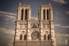 Notre-Dame (Corbicus Maximus) Tags: notredame cathedral paris france dramatic sky clouds blue ornate towers nikon d7200 18140mm lightroom îledelacité architecture gothic french catholic