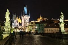 Prague / Praha (drasphotography) Tags: praha prague czechrepublic tschechien charles bridge karlsbrücke nightshot nachtaufnahme night travel travelphotography reise reisefotografie drasphotography nikon d810 nikkor2470mmf28 long exposure urban city cityscape