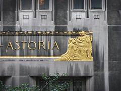 Astoria (skipmoore) Tags: newyorkcity nyc waldorfastoria sign gold artdeco