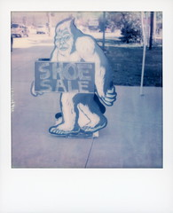 Yeti Shoe Sale (tobysx70) Tags: the impossible project tip color sx70 expired instant film sx70sonar sonar yeti shoe sale local experience us highway 40 main street winter park colorado co sign store shop ski boot fitter chalkboard polaradoone polarado 071918 toby hancock photography