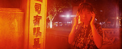 new eyes and the red pill (Shuji Moriwaki) Tags: widelux 35mm film panoramic cinematic hanoi vietnam red pill new eyes swing lens analog