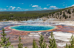Grand Prismatic Spring - Yellowstone National Park (LaurieD326) Tags: grandprismaticspring yellowstonenationalpark yellowstone caldera volcanicactivity geothermal