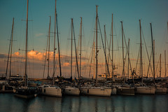 Marina sunset....... (Dafydd Penguin) Tags: yacht yachting sail sailboat boat sailing cruising cruise marina harbour port dock quay harbor harbourside quayside waterside sea mediterranean gaeta italy west coast coastal coasting leica m10 7artisans 50mm f11