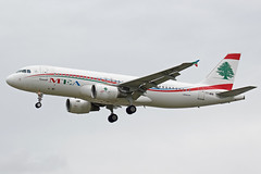 Middle East Airlines Airbus A320-214 T7-MRB (Paul's Aircraft and Transport Images) Tags: middle east airlines airbus a320 214 london heathrow lhr myrtle avenue