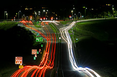 Torquay to the left of me Paignton to the right, Here I am..... (Hoovering_crompton) Tags: lighttrails longexposure kingskerswell torbay nikond3300 travis3leggedthing nightphotography a380 carlights devon abstract
