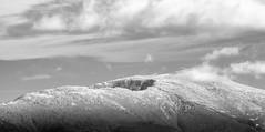 Mount Clay and Mount Washington, New Hampshire (jtr27) Tags: dscf1499x2l jtr27 fuji fujifilm xe2s xtrans minolta md zoom 75150mm f4 f40 manualfocus mount clay washington presidential range mountain whitemountains landscape newhampshire nh newengland monochrome bw nb snow greatgulf cograilway