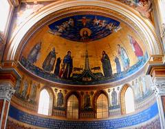 Apse with mosaic (1291) by Jacopo Torriti, restored on 1884-1886 - San Giovanni in Laterano Church in Rome (Carlo Raso) Tags: apse mosaic jacopotorriti sangiovanniinlateranochurch rome