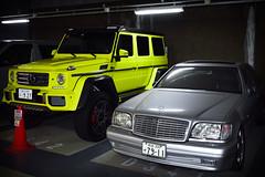 Stuttgart Couple (nikousen94) Tags: japan tokyo akihabara udx parking garage jdm car mercedesbenz g wagen 4x4 luxury