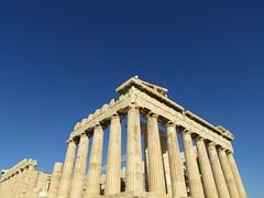 Parthenon - Acropolis (grahampaul78) Tags: ancient sky blue angles lines shapes historic history acropolis parthenon city greece athens