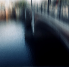 The bridge III (Zara.B) Tags: intentionalcameramovement iphone icm impressions river riverbank thames abstract painterly water colour blur bridge snapseed