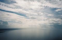 Bristol Channel light (knautia) Tags: breandown brean somerset england uk october 2018 film ishootfilm olympus xa2 olympusxa2 kodak ektar 100iso nxa2roll81 daytrip seaside footpath nationaltrust sea bristolchannel beach sky clouds