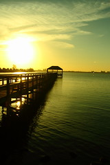 SUNSET (R. D. SMITH) Tags: sunset evening river pier canoneos7d water sun florida indianriver