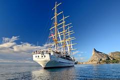 DSC_6695 (yuhansson) Tags: фрегат херсонес море чёрное парусник крым паруса парус корабли корабль путешествие путешествия югансон юрий boat sea sky water vessel ship sailing новыйсвет судак