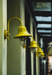 That yellow... (mihalis_giantsidis) Tags: streetphotography old lamps exploration omd 45mm mzuiko em1 olympus colors yellow urban street nafplion greece