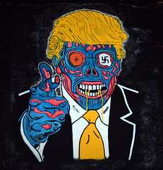 Donald John Trump (Peter Jennings 30 Million+ views) Tags: donald john trump graffiti art dunedin new zealand peter jennings nz zero days without being national embarrassment