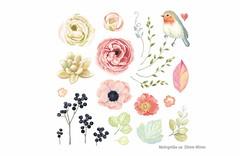 24 romantische Poesie-Style Bügelbilder, Transfer Bügelprints (patchmonkeys) Tags: patch bügelbild applikation aufbügler print blumen transfer bügeln bügel poesie romantische florale