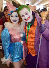 DSC_0026 (Randsom) Tags: newyorkcomiccon 2018 nycc cosplay nyc costume october5 comic con convention javits javitscenter newyork october joker harleyquinn harlequin duo romance couple supervillain villain arkham gotham clown whiteface fun smile comiccon 2019 dc comics superhero cosplayer
