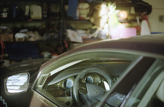 garage (bpwilby) Tags: 200speed 35mm film kodak nikon nikonf4 summer usa c41 kodakgold kodakgold200 mercercounty negative newjersey nj printfilm speed200 westwindsor