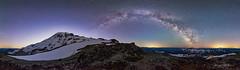 Midnight Wonderland (jeremyjonkman) Tags: muir snowfield mount rainier national park paradise cold milky milkyway galaxy night nightscape midnight stars astronomy astrophotography astro sky air glo glow