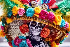 Day of the Dead (Frederik Trovatten) Tags: dayofthedead streetphotography street streetphotographer streetportrait streets portrait portraitphotograph portraits portraitphotography fuji fujifilm xt3 colors mexico mexicocity cdmx mexican skeleton hat sombrero díademuertos muertos day dead people human