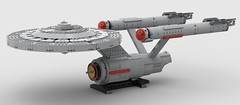 USS enterprise (new rendering program) (KaijuWorld) Tags: lego moc custom render stud program new star trek uss enterprise spock kirk captain ncc 1701 science fiction ldd