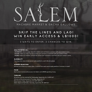 Win early access to Salem!