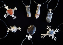 MG. Silver and Stone Pendant Assortment (michaelgoard.com) Tags: montana agate moss yellowstone river milescity saddlery petrified wood jewelry rings pendants stone michaelgoard silver western lapidary unique handcrafted earth gemstone sterling agates yellowstoneriver jasper petrifiedwood ancient milescitysaddlery gems stategemstone pendant ring necklace fashion silica handmade forged silversmith