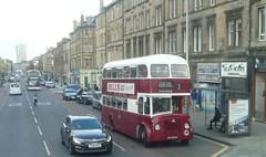 Preserved Edinburgh Corporation Transport Leyland Titan in Leith Walk, Edinburgh. (calderwoodroy) Tags: asc665b 665 service7 alexander titanpd3 leyland edinburghcorporationtransport doubledecker bus leithwalk edinburgh scotland
