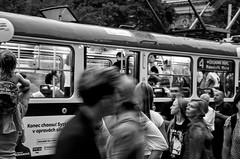 Photo (BadSoull) Tags: streetphoto 2018 nikon dslr d5100 prague europe trip photowalk transport tram people blackandwhite bnw