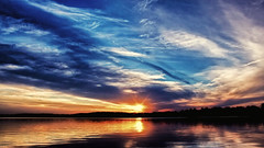 Sky-a-Drama (Bob's Digital Eye) Tags: bobsdigitaleye canon canonefs1855mmf3556isll clouds cloudscape dark flicker flickr glow h2o july2018 laquintaessenza lake lakesunset lakesunsets lakescape outdoor reflection skies sky skyline skyscape sun sunset sunsetsoverwater t3i water