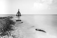Arendshoofd (IngridVD. Photography) Tags: arendshoofd brouwersdam leefilters langesluitertijd zeeland zeelandschappen hout zwartwit meer water sky