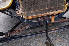 1915 Ford Model T - Brampton, Ontario. (edk7) Tags: olympusomdem5 panasoniclumixg20mm117iiasphpancake edk7 2018 canada ontario brampton caacentre annualcruisinforacurecanada prostatecancercanadanetwork overnundercarclub 1915fordmodelt car auto vehicle automobile vintage restored classic crank axle headlight radiator spring pavement rust liquid copper brass metal fins